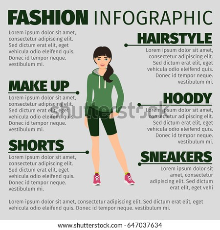 fashion infographic with