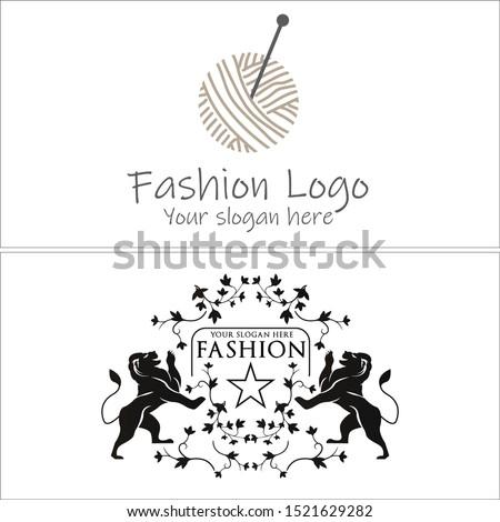 fashion logo with ball thread