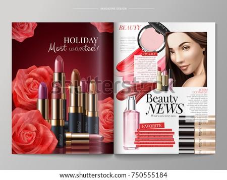 fashion magazine template  lip