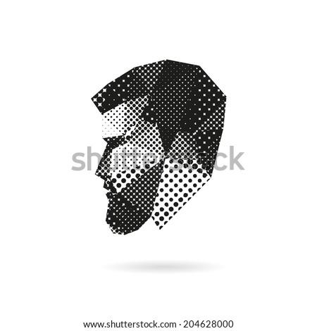 fashion man silhouette  vector