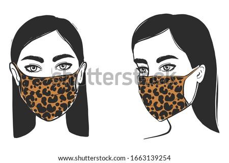 fashion medical mask leopard