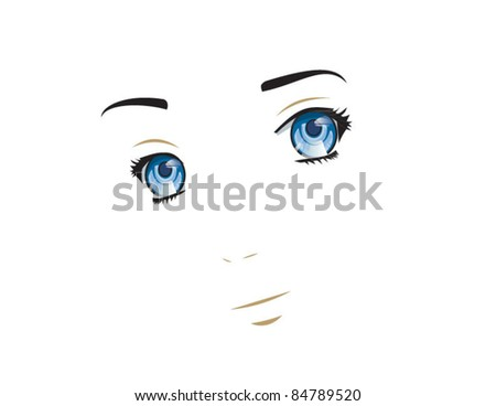 fashion model portrait vector