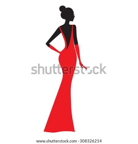 fashion model  silhouette of