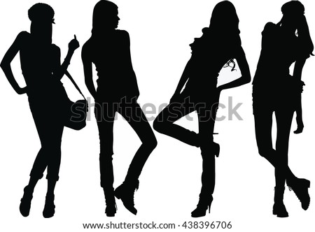 Fashion Model Silhouettes.