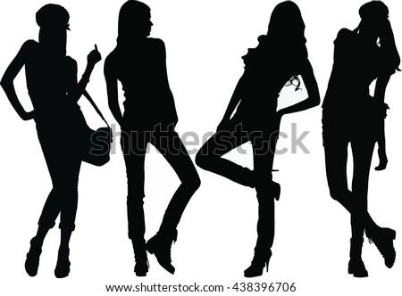 Fashion Model Silhouettes.