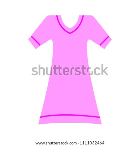 fashion model symbol, vector casual woman dress illustration
