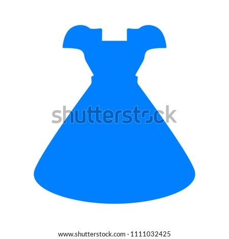 fashion model symbol, vector elegant woman dress illustration