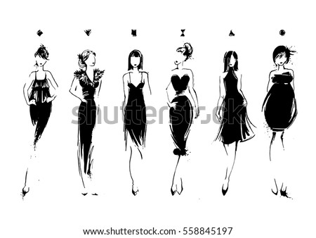 Woman With Evening Dress Download Free Vector Art Stock Graphics