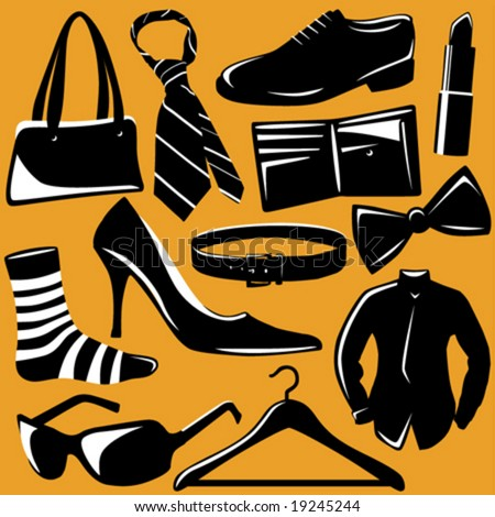 fashion objects vector - stock vector