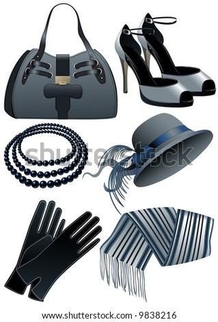 Fashion objects, vector illustration, EPS file included