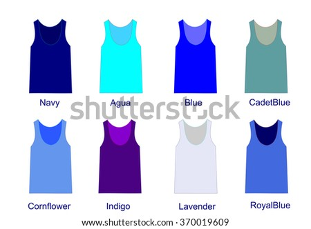 fashion palette of blue  color