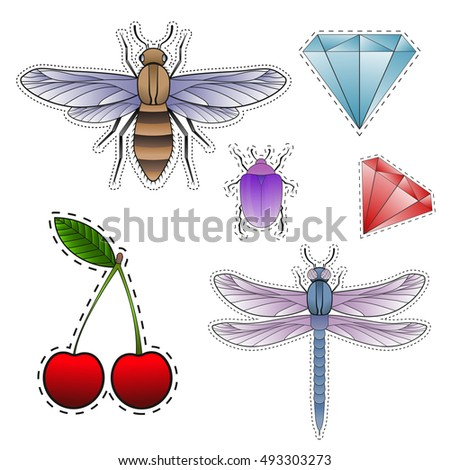 fashion patch badges with bee