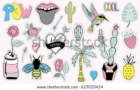 fashion patch badges with cute