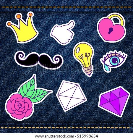 fashion patch  retro badges