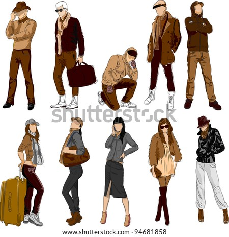 Fashion people - vector set