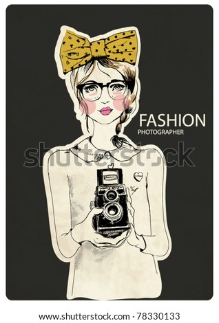 fashion photographer girl with...