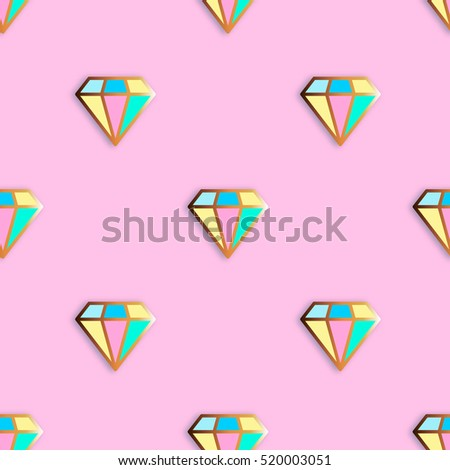 fashion pins seamless pattern
