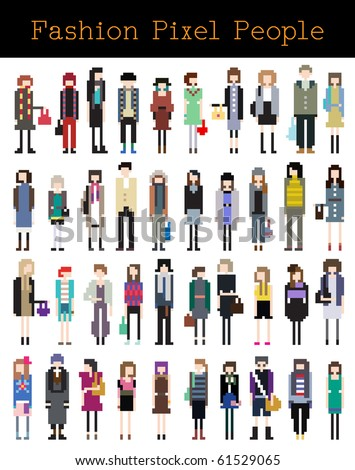 Fashion Pixel People Part 3