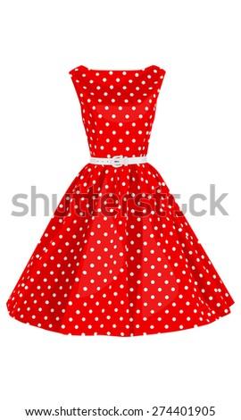 fashion polka dots woman dress