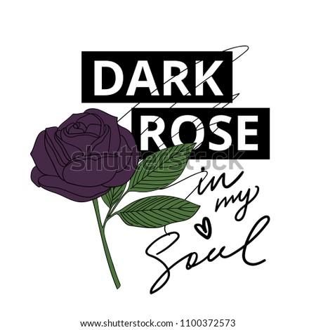 fashion print with dark rose