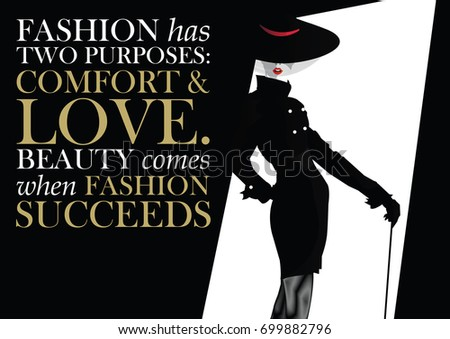 fashion quote with woman in