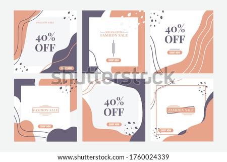 Fashion Sale Banner Instagram Feeds Design Template Social Media Post Elegant and modern Stock photo ©