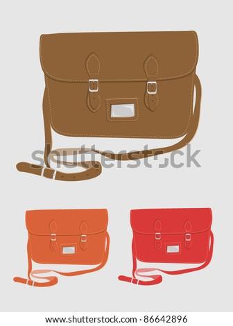 Fashion / School satchel set 1 - stock vector