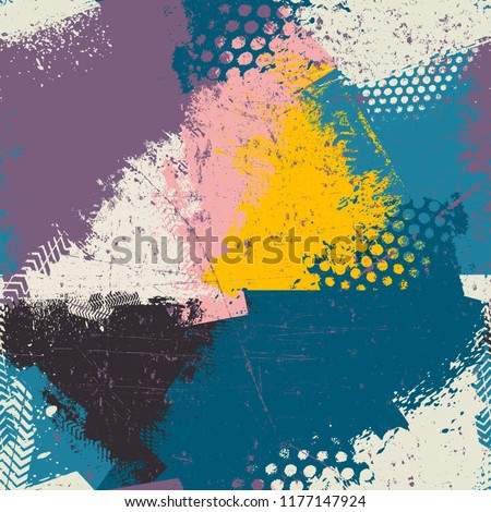 Fashion seamless pattern. Mottled vector texture for fabric, covers, printing, wrapping paper. Colorful background pattern. Art seamless vector