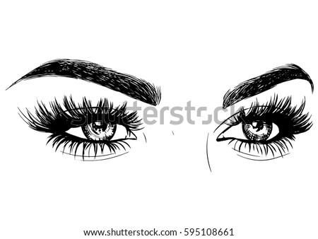 fashion sexy woman eyes makeup