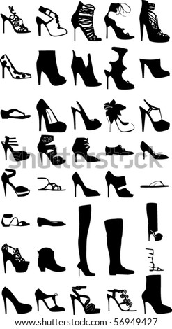 Fashion shoes and boots set