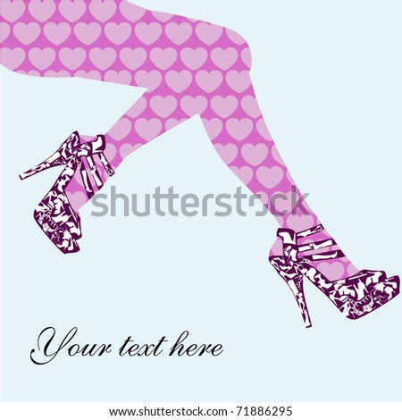 Fashion shoes background