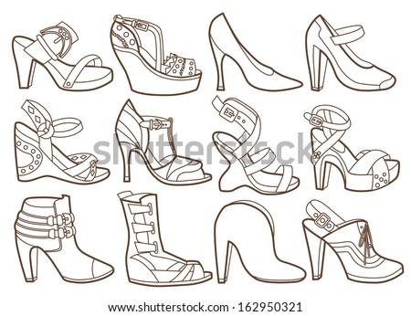 prostituierte clipart high heels bett