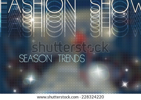 fashion show abstract vector background with blurred podium
