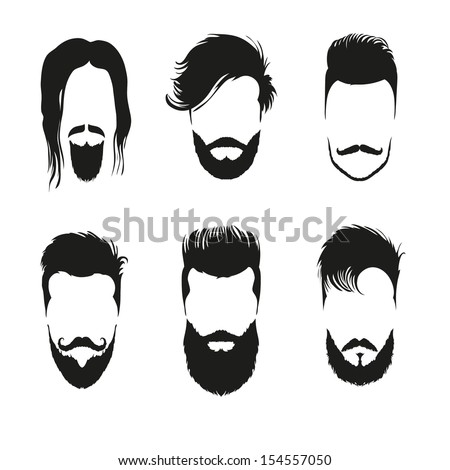 Fashion silhouette hipster style set, vector illustration