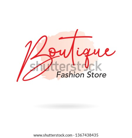 fashion simple logo design vintage and modern style_script style