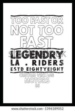 Fashion Slogan for T-shirt and apparels graphic vector Print. - Vector