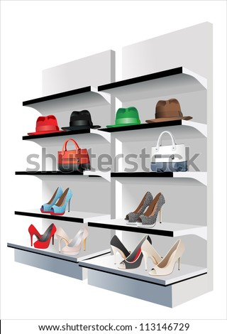 Fashion store. Vector set