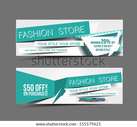 Fashion Store Web Banner Header Layout Template
