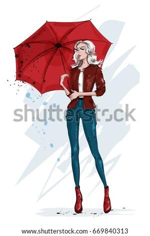 fashion stylish woman with