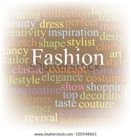 Fashion. Tag cloud.