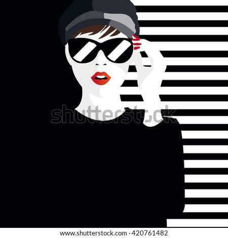fashion  teenage girl vector