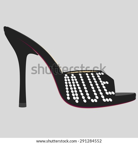 fashion typography  shoe