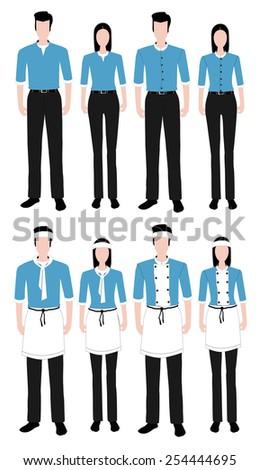 Fashion uniform set.