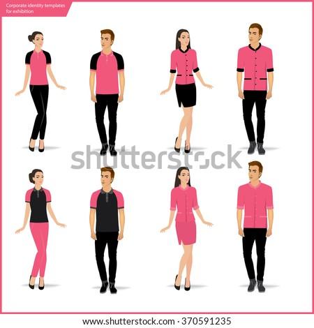 Fashion uniform set.vector