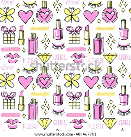 fashion vector seamless pattern