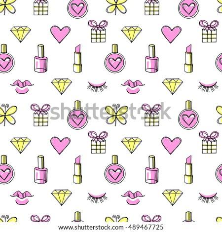 fashion vector seamless pattern