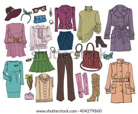 358dee0f742de Fashion Vector.Woman wear,dress.Hand drawing doodle fashion  illustration,girl wear