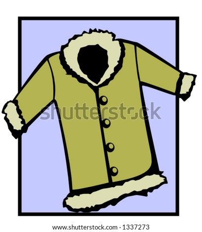 stock vector : fashion winter coat