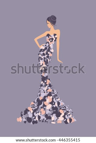 fashion woman in high fashion