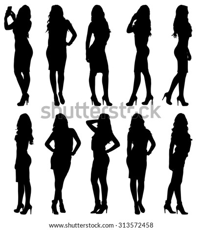 fashion woman model silhouette